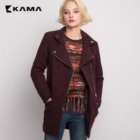 KAMA 卡玛 7415780 女士中长款修身外套