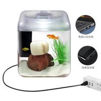 HugeSun 亚克力鱼缸水族箱  智能小型鱼缸
