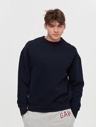男装|碳素软磨系列 男女同款 简约风格纯色圆领套头卫衣