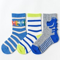 Caramella 焦糖玛奇朵 儿童袜子秋冬款 3双装 *2件