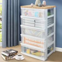 IRIS 爱丽思 透明抽屉式储物柜 五层