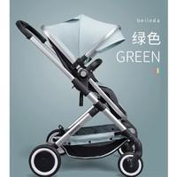京东PLUS会员:贝乐达 婴儿可坐可躺双向高景观推车