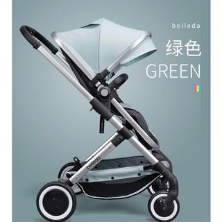 贝乐达 婴儿可坐可躺双向高景观推车