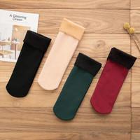 君偕 女士加厚雪地袜 4双装 多色可选