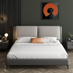SLEEMON 喜临门 约灵 全实木可拆洗布艺软包床 1.5/1.8m