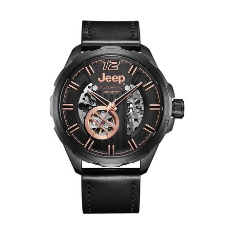 Jeep手表男自动机械表时尚镂空男士皮带腕表夜光新款潮牌