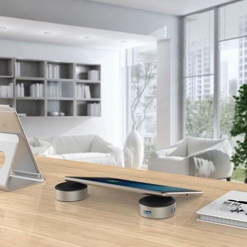 奥睿科/ORICO 平板/笔记本创意支架3口USB3.0 HUB集线器
