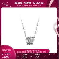 Pandora潘多拉官网新品项链女925银闪烁盘蛇ZT0812百搭配饰毛衣链 *2件
