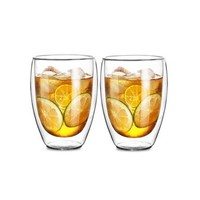 Le Bronte 朗特乐 高硼硅双层玻璃杯 350ml 2只装