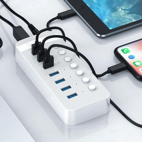 粉丝价:ORICO 奥睿科 7口 工业级 USB3.0集线器