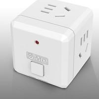 移动专享: 清风 多功能转换器插座 白色