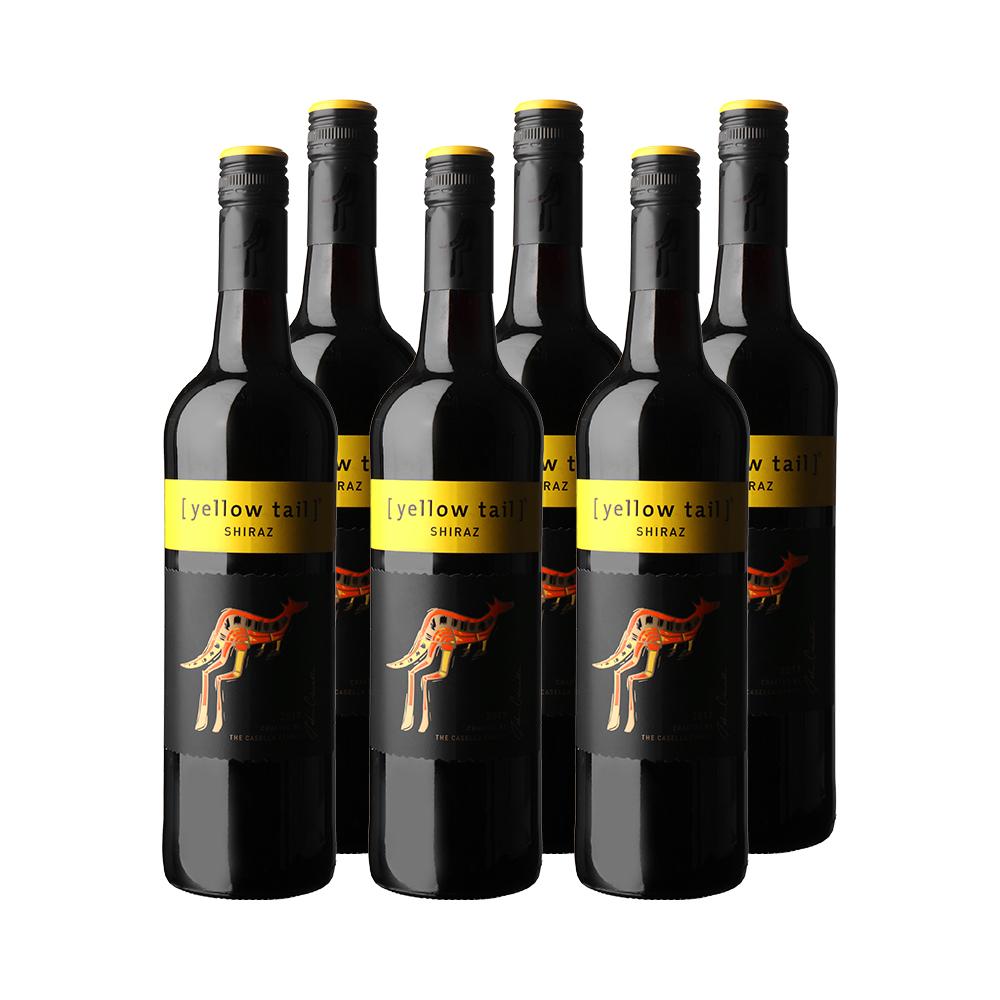 Yellow Tail 黄尾袋鼠 西拉 干红葡萄酒 750ml*6瓶