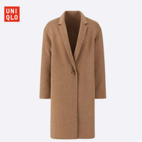 UNIQLO 优衣库 420228 女款双面呢茧形大衣