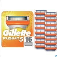 超值黑五、中亚Prime会员:Gillette 吉列 Fusion5 锋隐 男士剃须5层刀片 16件装