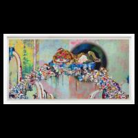 村上隆 限量版画 狮子横幅胶版版画限量 横幅大尺寸 早期重要代表作品