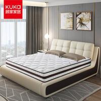 KUKA 顾家家居 DK.M1001 城市森语 邦尼尔整网弹簧床垫 180*200*22cm