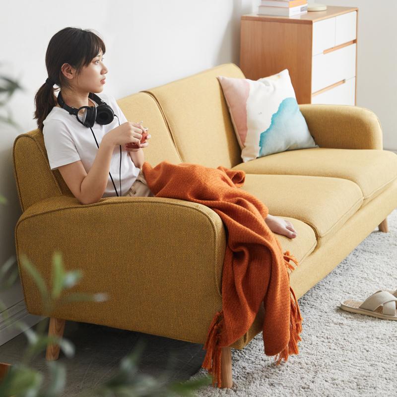 VISAWOOD 维莎原木 Y97H01 简约现代沙发 三人位