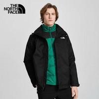 北面防水冲锋衣男装新款三合一可拆卸羽绒服内胆连帽外套4U7LS92