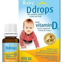 1072834 400 IU婴儿液态维生素D3滴剂,0.08液体盎司/2.5ml(2件)