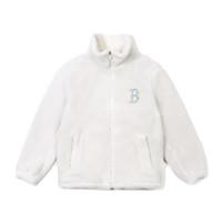 MLB羊羔绒大翻领夹克外套 后背大Logo 男女同款 情侣款