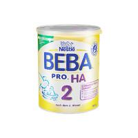 BEBA HA适度水解蛋白婴幼儿低敏奶粉 2段 800g