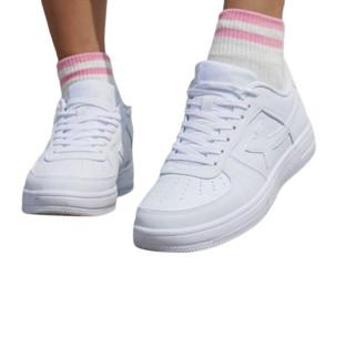 XTEP 特步 男鞋板鞋秋季2021空军一号情侣小白鞋潮女春季休闲运动鞋