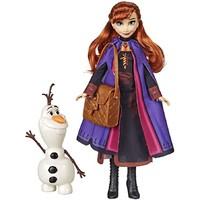 中亚Prime会员:Hasbro 孩之宝《冰雪奇缘2》时尚玩偶故事系列 安娜+雪宝