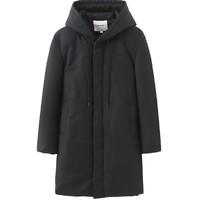 MARK FAIRWHALE 马克华菲 男士冬季新款纯黑经典长款羽绒服