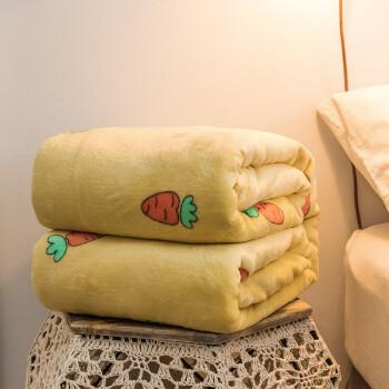 移动端:雲上舒 毛毯毯子 加厚法兰绒空调毯毛巾被珊瑚绒盖毯床单 120*200cm单人午睡毯