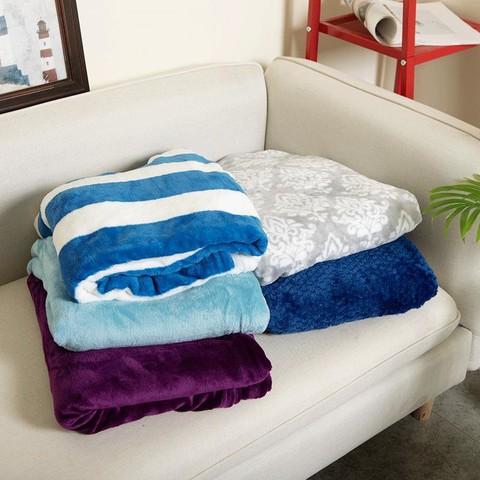 毛毯法兰绒毯子小夏季单人盖毯办公午休空调珊瑚绒午睡毯