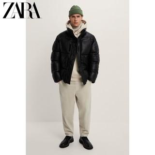 ZARA 新款 男装 冬季仿皮棉服夹克外套 08281333800