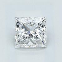 Blue Nile 1.02克拉公主方形钻石(良好切工 E级成色 SI2净度)