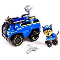 汪汪队立大功(PAW PATROL)狗狗巡逻队全套模型车 儿童男女孩玩具车套装 大救援车系列-特务警车+阿奇 *3件