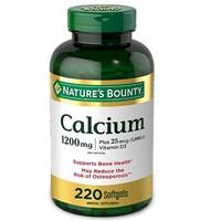Nature's Bounty 自然之宝 碳酸钙片和维生素D3矿物质补充剂 软胶囊 220粒 *3件