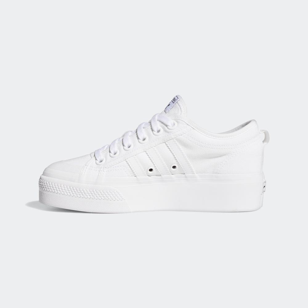 adidas Originals NIZZA PLATFORM W 女士休闲运动鞋 FV5322 白色 36