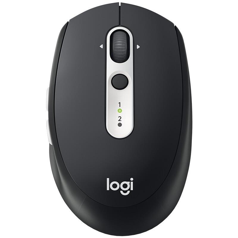 logitech 罗技 Logitech) M585无线蓝牙鼠标双模连接办公商务笔记本家用Flow技术 M585石墨黑