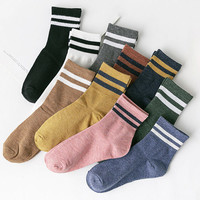 棉小妹 女士日系棉质堆堆袜 5双装
