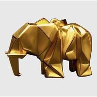 郭剑【小象吊坠】24k纯金吊坠 雕塑小摆件手工艺术品 3D硬金技术