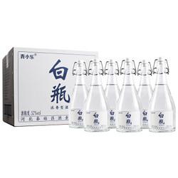 青小乐 白瓶纯粮白酒 52度浓香型 500ml*6瓶