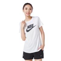 NIKE 耐克 女士纯棉圆领短袖T恤BV6170-100 白色M