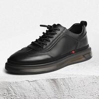 京东PLUS会员:BELLE 百丽 7AV01CM0 商务休闲皮鞋