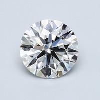 Blue Nile 1.00克拉圆形切割钻石(切工EX,成色G,净度VS2)