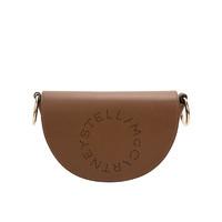 STELLA MCCARTNEY Stella Logo 棕色合成革字母女士单肩斜挎包