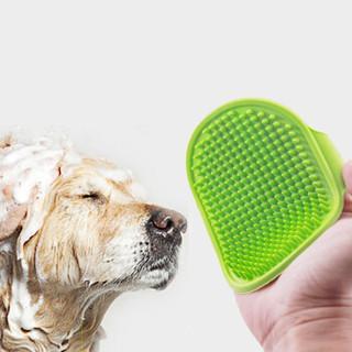 Vieruodis 可调节宠物橡胶按摩刷 2个装(随机色)