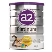 A2 白金系列 2段 婴儿配方奶粉 900g