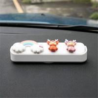 汽车 电话临时号码创意摆件 3彩虹+小鹿
