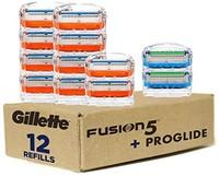 Gillette 吉列 Fusion5 男士剃须刀片-10个刀芯+ Fusion5 ProGlide剃须刀片-2个刀芯-12个一包