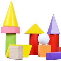 DALA 达拉 数学形状教具 几何积木18颗粒