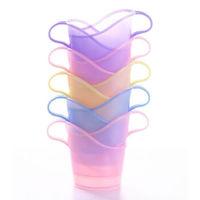 南暖 加厚一次性纸杯子杯托加硬塑料茶托杯架隔热托透明水杯杯座环保 10个装(颜色混发)