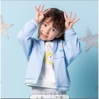 安踏儿童女小童冰雪奇缘公主风针织运动上衣 36939704_-1乐蓝色,130cm